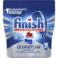 3 PACK OF Finish Powerball Quantum Ultimate Dishwasher Tablets Original 36 pack