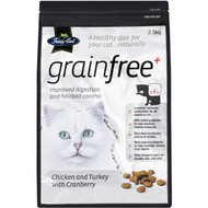 3 PACK OF Fussy Cat Grain Free Cat Food Chicken & Turkey With Cranberries 2.5kg