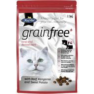 3 PACK OF Fussy Cat Grain Free Beef Kangaroo & Sweet Potato Dry Cat Food 2.5kg