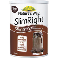 3 PACK OF Nature's Way Slim Right Slimming Meal Replacement Chocolate Flavour 500g