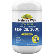 3 PACK OF Nature's Way Advanced Omega Triple Strength Fish Oil 60 pack