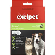 3 PACK OF Exelpet Treatment Capstar Cat/small Dog 6 tablets
