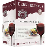 3 PACK OF Berri Estates Cask Wine Traditional Dry Red 5l