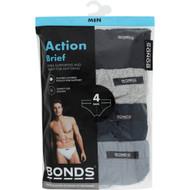 3 PACK OF Bonds Underwear Mens Action Briefs Large