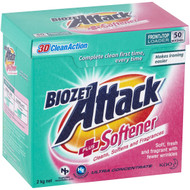 3 PACK OF Biozet Attack Laundry Powder With Softener 2kg
