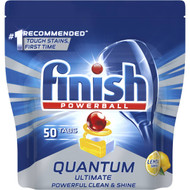 Finish Quantum Ultimate Dishwasher Tablets Lemon Sparkle 50 pack