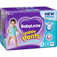 Babylove Nappy Pants Jumbo Toddler 9-14kg 56 pack