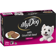 My Dog Gourmet Beef Meaty Loaf Wet Dog Food 24 pack