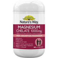 Nature's Way Magnesium Chelate Tablets 1000mg 100 pack