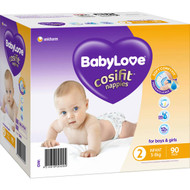 Babylove Cosifit Nappies Infant 3-8kg 90 pack