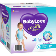 Babylove Cosifit Jumbo Nappies Toddler 69 pack