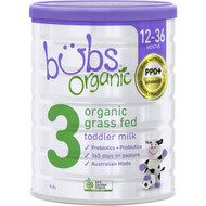 3 PACK OF Bubs Organic Grass Fed Toddler Formula Stage 3 800g