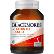 3 PACK OF Blackmores Vitamin D3 200 capsules