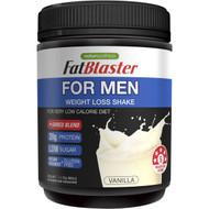 3 PACK OF Naturopathica Fat Blaster For Men Weight Loss Shake Vanilla 385g