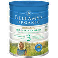 3 PACK OF Bellamy's Organic Toddler Baby Formula Stage 3 900g