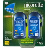 Nicorette Quit Smoking Extra Strength Fruit Lozenges 4mg 80 pack