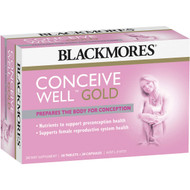 3 PACK OF Blackmores Pre-conception Conceive Well Gold 56pk