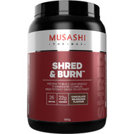 Musashi Shred & Burn Protein Powder Chocolate Milkshake Flavour 900g