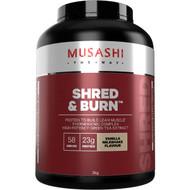 Musashi Shred & Burn Van Milkshake Powder 2kg