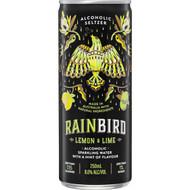 Rainbird Lemon & Lime Seltzer 8% Cans 6x4x250ml