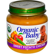 Organic Baby, Certified Organic Baby Food, Sweet Potato Chicken, 4 oz (113 g) (5 PACK)