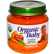 Organic Baby, Certified Organic Baby Food, Carrots, 4 oz (113 g) (5 PACK)