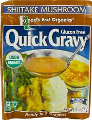 3 PACK of Roads End Organics Gravy Mix Gluten Free Shiitake Mushroom -- 1 oz