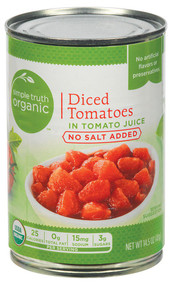 Simple Truth Organic Diced Tomatoes in Tomato Juice No Salt Added - 14.5 oz