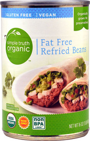 3 PACK of Simple Truth Organic Fat Free Refried Beans -- 16 oz