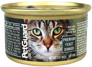 3 Pack of PetGuard Canned Cat Food Premium Feast Dinner - 3 oz