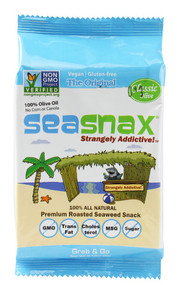 5 PACK of SeaSnax Organic Seaweed Snacks Olive Oil - 0.18 oz