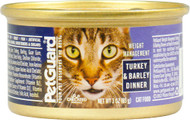 3 PACK of PetGuard Canned Cat Food Weight Management for Cats Turkey and Barley -- 3 oz