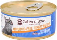 3 Pack of Catered Bowl Always Antibiotic Free Premium Cat Food Turkey Recipe - 5.5 oz