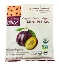 3 PACK of Fruit Bliss Organic French Agen Mini Plums -- 1.76 oz