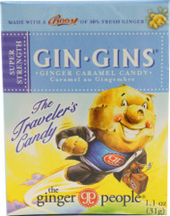 3 PACK of Ginger People Gin Gins Ginger Caramel Candy Super Strength -- 1.1 oz