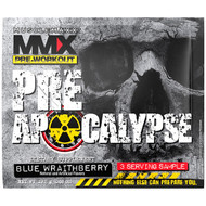 3 PACK OF MuscleMaxx, PRE APOCALYPSE, Pre-Workout, Arginine + Taurine + Creatine + Beta-Alanine, Blue Wraithberry, 3 Serving Sample (0.68 oz) (19.2 g)