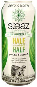 Steaz Green Tea Soda, Zero Calorie Iced Green Tea,  Lemonade - 16 fl oz (5 PACK)