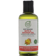 3 PACK OF Petal Fresh, Pure, Softening Bath & Shower Gel, Rose & Honeysuckle, 3 fl oz (90 ml)