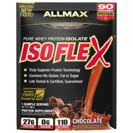 3 PACK of ALLMAX Nutrition, Isoflex, 100% Ultra-Pure Whey Protein Isolate (WPI Ion-Charged Particle Filtration), Chocolate, 1 Sample Serving, 1.06 oz (30 g)