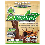 5 PACK of ALLMAX Nutrition, IsoNatural, 100% Ultra-Pure Natural Whey Protein Isolate (WPI90), Chocolate, 31 g