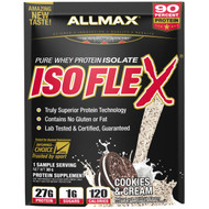 ALLMAX Nutrition, Isoflex, 100% Ultra-Pure Whey Protein Isolate (WPI Ion-Charged Particle Filtration), Cookies & Cream, 1 Sample Serving, 1.06 oz (30 g)