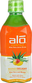 5 PACK of ALO Essentials Aloe Vera Juice Drink  Mango Delight - 11.8 fl oz