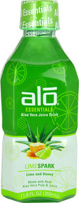 5 PACK of ALO Essentials Aloe Vera Juice Drink  Lime Spark - 11.8 fl oz