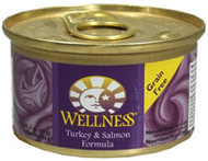 Wellness, Canned Cat Food,  Turkey and Salmon - 3 oz