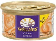 3 PACK of Wellness Canned Cat Food Grain Free Chicken -- 3 oz