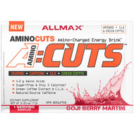 ALLMAX Nutrition, AMINOCUTS (ACUTS), Weight-Loss BCAA (CLA + Taurine + Green Coffee), Goji Berry Martini, Trial Size, 0.25 oz (7 g)