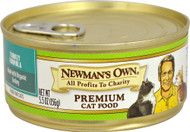 3 Pack of Newman's Own Organic Canned Turkey Formula For Cats - 5.5 oz