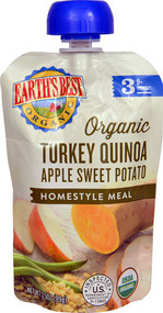 3 PACK of Earths Best Homestyle Meal Baby Food Stage 3 Organic Turkey Quinoa Apple Sweet Potato -- 3.5 oz