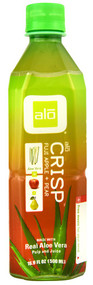 ALO, Crisp Real Aloe Vera Pulp and Juice,  Fuji Apple + Pear - 16.9 fl oz -5 PACK