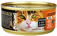 PetGuard, Canned Cat Food,  Chicken and Beef Dinner - 5.5 oz -5 PACK